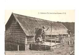 CPA Indochine Habitation Moï Dans Le Haut Annam - Cartes Postales