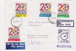 Brief In Die Schweiz (br4675) - Singapore (1959-...)