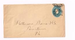 Entier à 1 Cent. Expédié De Pittsburg à Parentum (Pa) - Entiers Postaux