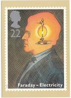 FARADAY - ELECTRICITY - Scientific Achievements  - 22p Stamp - March 1991 - Postzegels (afbeeldingen)