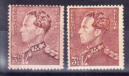 Belgique, COB 531 ET 531a, **  MNH Poortman,  (7B230) - 1936-51 Poortman