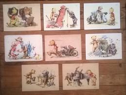 Lot De 8 Cartes Postales Anciennes Illustrateur SA - Autres Illustrateurs