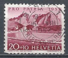 Switzerland 1952. Scott #B214 (U) Lake Of St. Gothard * - Pro Patria