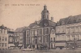 HUY / L HOTEL DE VILLE ET LA GRAND PLACE / CAFE DE L HOTEL DE VILLE - Hoei