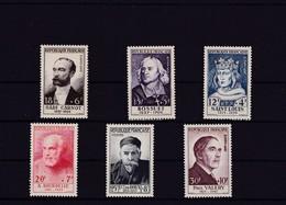 FRANCE   ** 1954 ** TIMBRES NEUFS** ET SANS CHAR/.N° 989 à 994 . - Unused Stamps