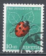 Switzerland 1952. Scott #B218 (U) Insect, Ladybug * - Pro Juventute