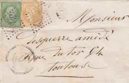 LETTRE. 1 JANV 72. PERLÉ T24 ST JORY HAUTE-GARONNE. GC 3683. AFFRANCHISSEMENT MIXTE. BOITE RURALE C / 1 - 1849-1876: Période Classique
