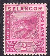 Malaysia-Selangor SG 50 1891 2c Rose, Used - Selangor