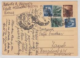 Italy Postal Stationery Postcard Cartolina Postale Travelled 1947 To Yugoslavia - Uprated Bb180612 - Interi Postali