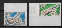 MAURITANIE - MUSIQUE - YT 188+190 ** NON DENTELES - - Mauretanien (1960-...)