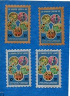-Timbres Contre La Tuberculose -1976/77- Lot De 5 Timbres Adhésif (série Partielle )+ 1 Carnet De10 Timbres -bon état - Commemorative Labels