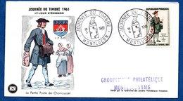 Enveloppe Premier Jour / La Petite Poste De Chamousset / 18-03-1961 / Montluçon - 1960-1969