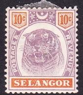 Malaysia-Selangor SG 57 1895 3c Dull Purple And Orange, Mint Hinged - Selangor