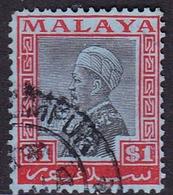 Malaysia-Selangor SG 83 1936 Sultan Alam Shah, $ 1.00, Used - Selangor