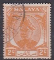 Malaysia-Selangor SG 91 1949 Sultan Shah, 2c Orange, Used - Selangor