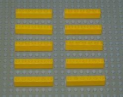 Légo 10 X Brique 1x6x1 Jaune Ref 3009 - Lego Technic