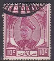 Malaysia-Selangor SG 98 1949 Sultan Shah, 10c Purple, Used - Selangor