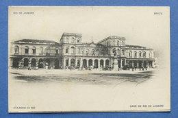 Cartolina Brasile - Rio De Janeiro - Stazione Di Rio - 1910 Ca. - Non Classificati