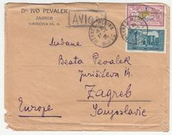 Ivo Pevalek Private Letter Cover Travelled 1928 Meknes-Medina To Zagreb Bb180612 - Morocco (1891-1956)