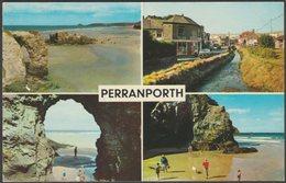 Multiview, Perranporth, Cornwall, 1969 - Postcard - England