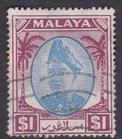 Malaysia-Selangor SG 108 1949 Sultan Shah, $ 1.00 Blue And Purple, Used - Selangor