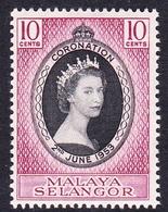 Malaysia-Selangor SG 115 1953 Coronation, Mint Never Hinged - Selangor