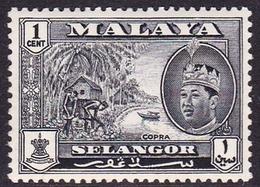 Malaysia-Selangor SG 129 1962 Sultan Shah, 1c Black, Mint Hinged - Selangor
