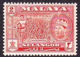 Malaysia-Selangor SG 130 1962 Sultan Shah, 2c Orange-red, Mint Hinged - Selangor