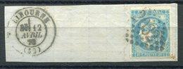 RC 9128 FRANCE 20c BORDEAUX OBL. GC 2032 LIBOURNE SUR FRAGMENT TB - 1870 Bordeaux Printing