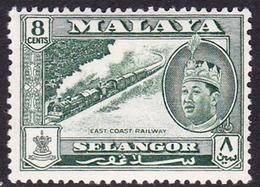 Malaysia-Selangor SG 133 1962 Sultan Shah, 8c Myrtle-green, Mint Hinged - Selangor