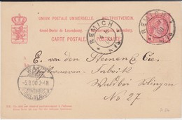 Luxembourg Luxemburg Ganzsache P 54 Remich 1900 - 1895 Adolphe Right-hand Side