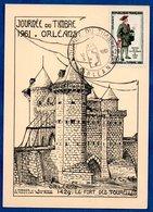 Carte Premier Jour / Fort Des Tourelles / Orléans  / 18-03-1961 - Maximum Cards