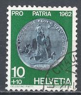 Switzerland 1962. Scott #B314 (U) Coin, Half-Thaler, Obwalden, 1732 * - Pro Patria