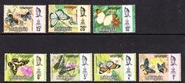 Malaysia-Selangor SG 146-152 1971 Butterflies, Mint Hinged - Selangor