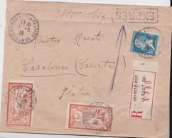 FRANCE 1926 LETTRE RECOMMANDEE EXPRES DE BORDEAUX AVEC CACHET ARIVEE CASALVIERI - Postmark Collection (Covers)