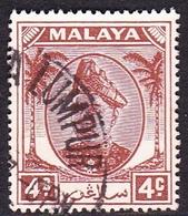 Malaysia-Selangor SG 931949  Sultan Alam Shah, 4c Brown, Used - Selangor