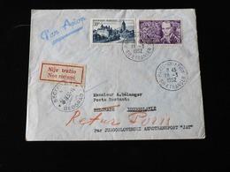 LETTRE PAR AVION A DESTINATION DE BELGRADE  -  1952  - - 1927-1959 Briefe & Dokumente