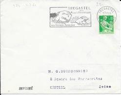 COTES D'ARMOR 22 - TREGASTEL  -  FLAMME N° 924 - VOIR DESCRIPTION -  1960 - Postmark Collection (Covers)
