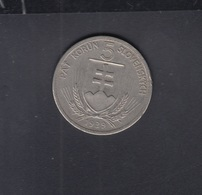 Slowakei Slovakia 5 Korun 1939 - Eslovaquia