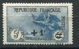 RC 9135 FRANCE N° 169 5F + 1F +1F BLEU ORPHELINS DE GUERRE COTE 170€ NEUF * TB - France