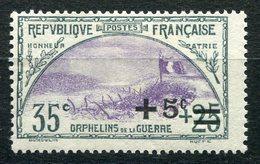 RC 9137 FRANCE N° 166 35c + 25c + 5c ORPHELINS DE GUERRE COTE 16€ NEUF * TB - France