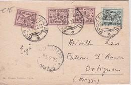 VATICAN 1929 CARTE DE ROME - Lettres & Documents