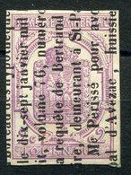 RC 9141 FRANCE JOURNAUX N° 1 - 2c LILAS SUR FRAGMENT COTE 85€ TB - Zeitungsmarken (Streifbänder)