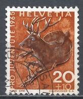 Switzerland 1965. Scott #B352 (U) Animal, Red Deer * - Pro Juventute