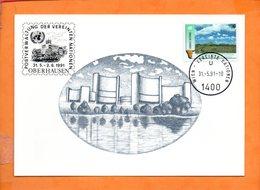 NATIONS-UNIES, Vienne, Carte Postale Souvenir Expo Oberhausen - Centre International De Vienne