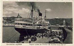 AÇORES - FAIAL - FAYAL - Vapor Lima No Porto Da Horta - PORTUGAL - Açores