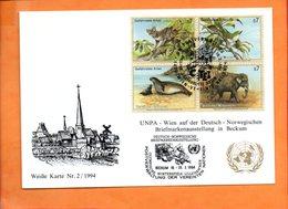 NATIONS-UNIES, Vienne, Carte Postale Souvenir Expo Beckum - Centre International De Vienne