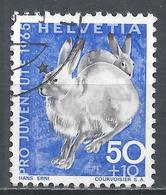 Switzerland 1965. Scott #B354 (U) Animal, Varying Hares * - Pro Juventute