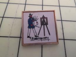 Pin511c Pin's Pins / Beau Et Rare : Thème PERSONNES CELEBRES / F BASSOMPIERRE PEINTRE ARTISTE PEINTURE CHEVALET Pas Mich - Celebrities