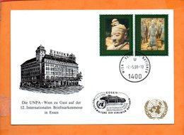 NATIONS-UNIES, Vienne, Carte Postale Souvenir Expo Essen - Centre International De Vienne